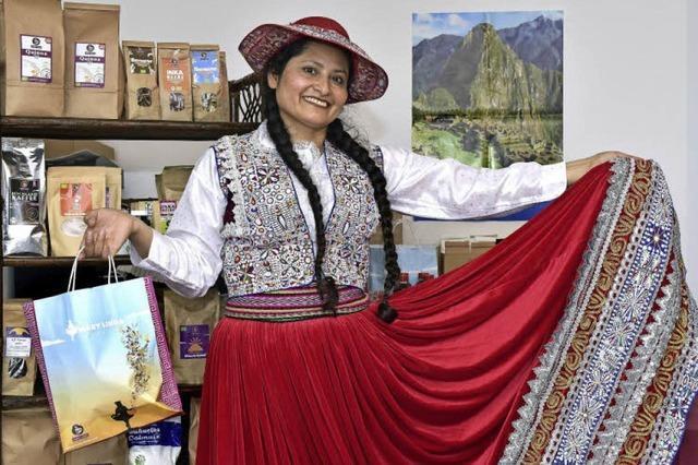 Mary Quicaño Ampuero importiert Bio-Waren aus Peru und sammelt für Flutopfer