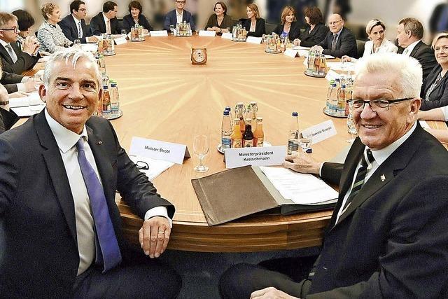 Ein Jahr Grün-Schwarz: Kretschmanns Kabinett im BZ-Check
