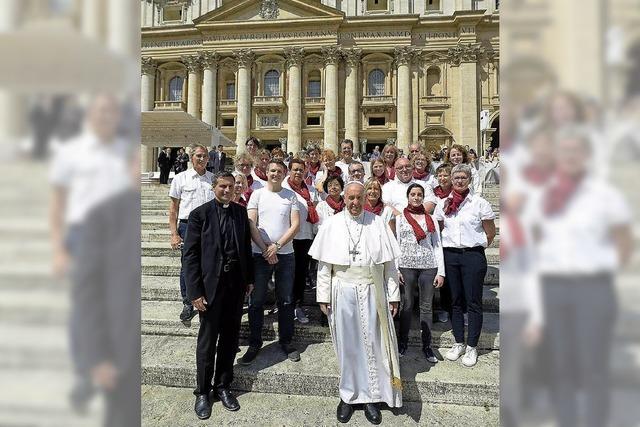 Begegnung mit dem Papst