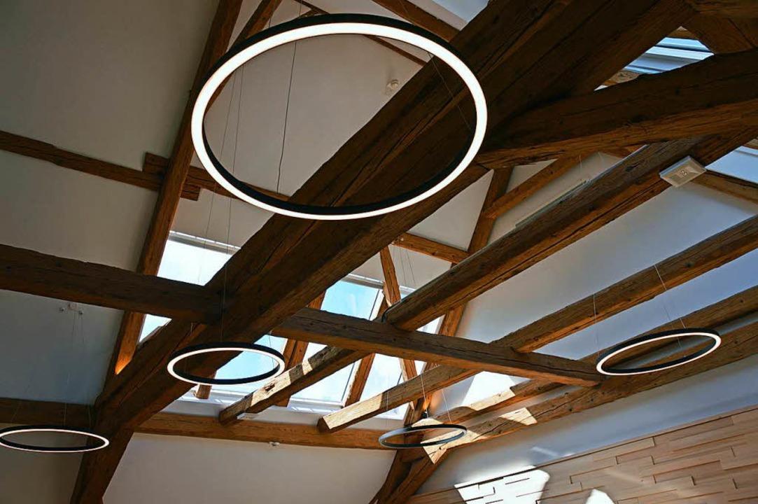 Olympischen Ringen gleich erscheint di... im Bürgersaal der Verwaltungsscheune.  | Foto: Gerhard Lück