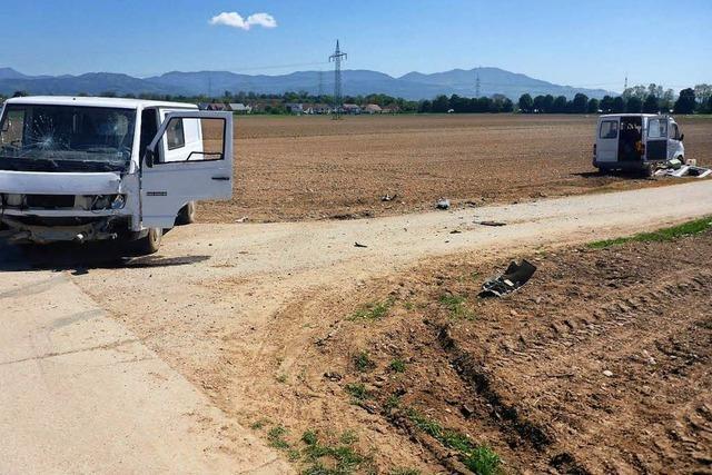 Sieben Arbeiter bei Kollision zweier Kleinbusse auf Landwirtschaftweg verletzt