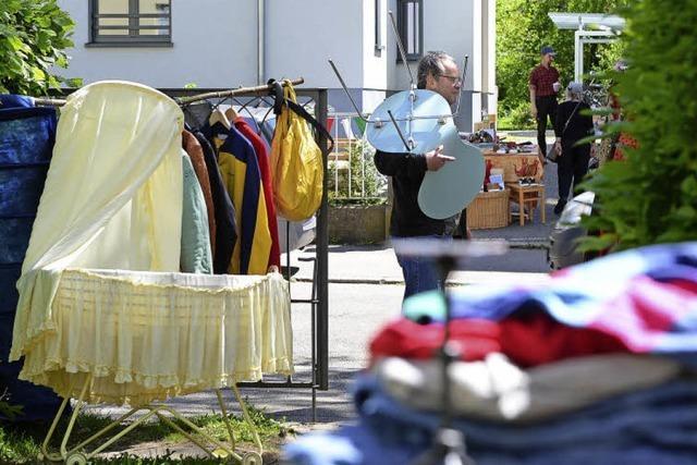 Am Wochenende fand in der Wiehre ein Quartiersflohmarkt statt