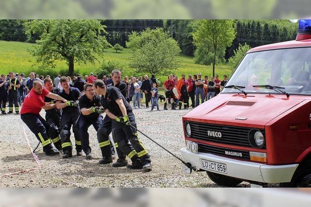 Bei der Feuerwehrolympiade war voller Einsatz war gefragt