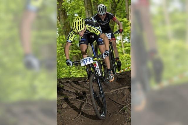 Tim Meier aus Rheinfelden wird beim zweiten Bundesligarennen Zweiter der Mountainbike-Junioren