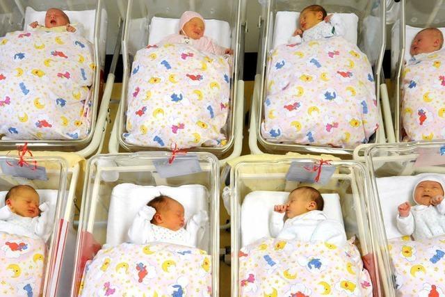 Deutschland bei Geburten nur Mittelmaß