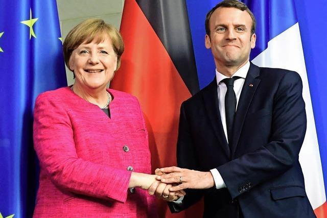 Merkel und Macron wollen EU reformieren
