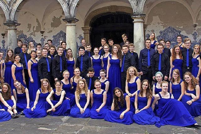 Preisgekrönte Chor im Rahmen der Schulchortage in Müllheim