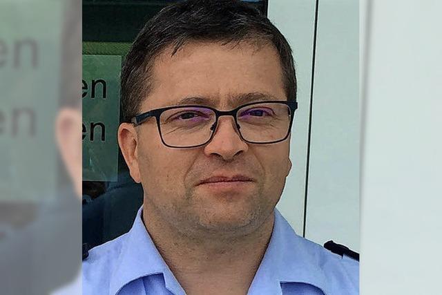 Martin Gräf leitet den Polizeiposten