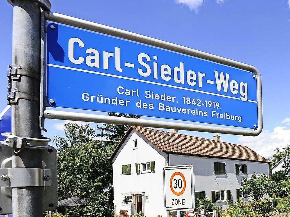 Nach Bauvereinsgründer Carl Sieder war... seine Vita allerdings nicht erfüllen.  | Foto: Ingo Schneider