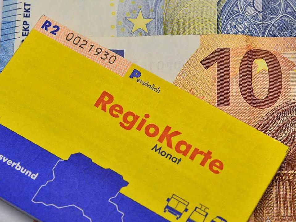 Die Regiokarte wird teurer.    Foto: Michael Bamberger