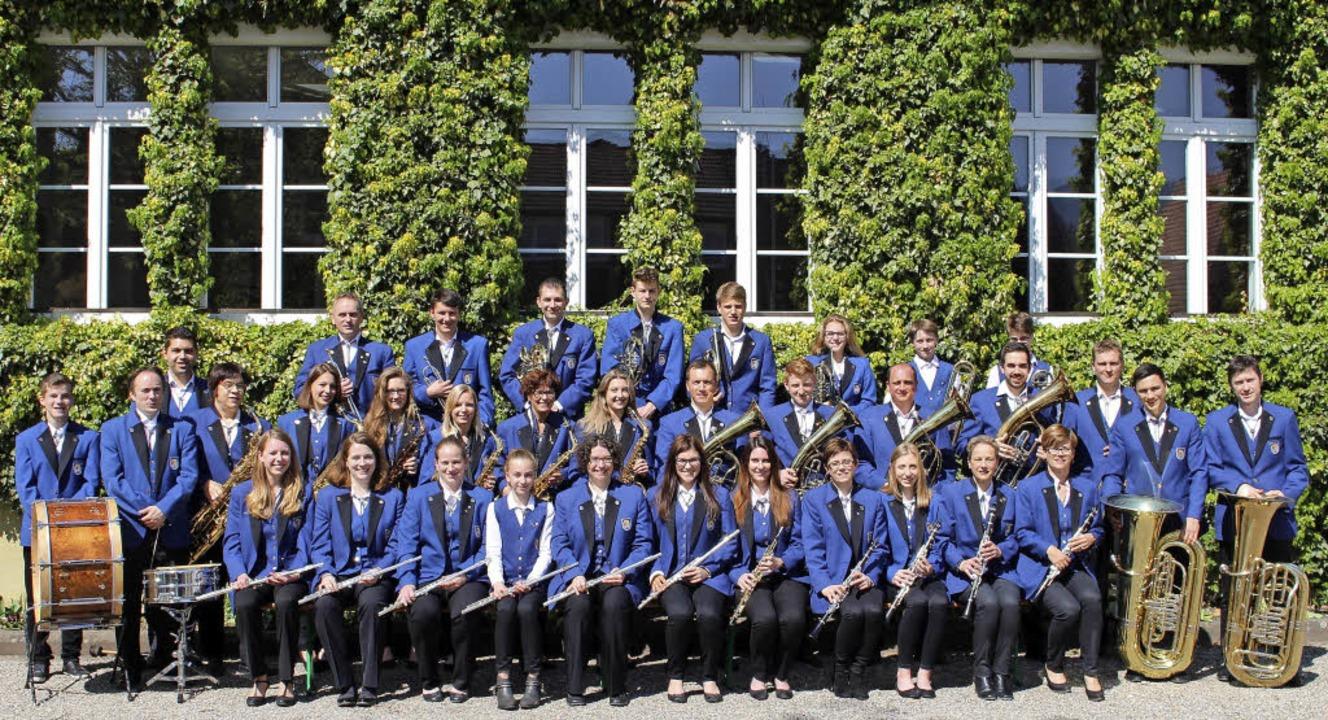 Strahlende Gesichter im Jubiläumsjahr: der Musikverein Wolfenweiler-Schallstadt  | Foto: privat