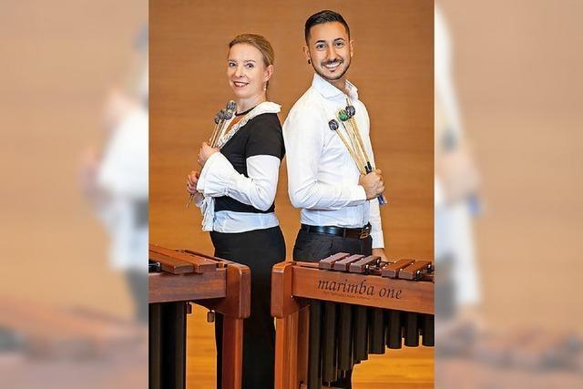 Marimba-Virtuosen Katarzyna Mycka und Conrado Moya in Waldkirch