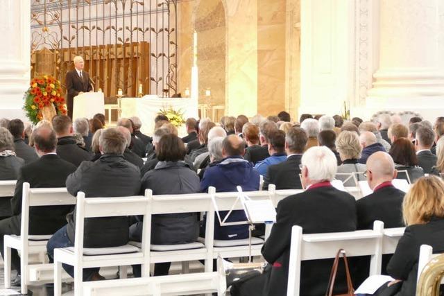 Trauerfeier im Dom für den verstorbenen Bürgermeister Rainer Fritz