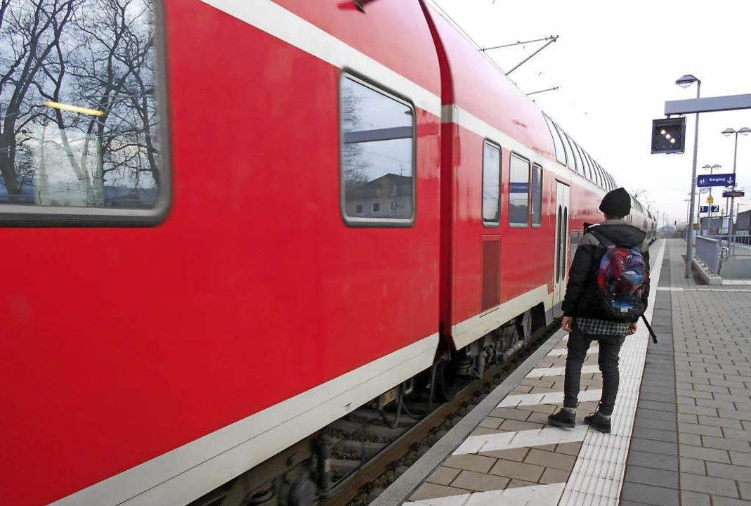 Regionalbahn in Schliengen    Foto: Victoria Langelott