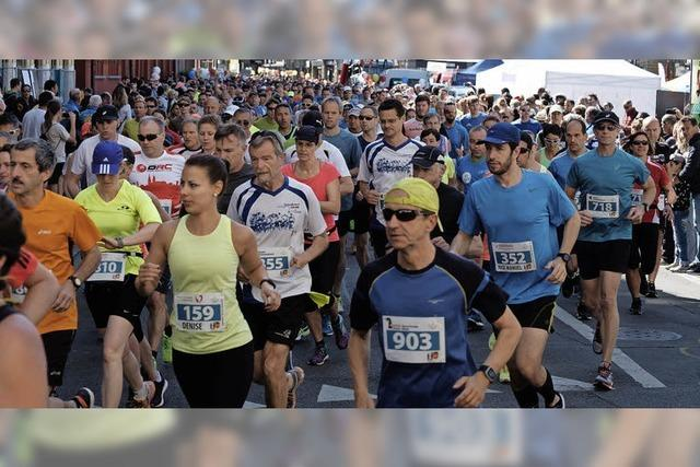 1550 Läufer waren beim Dreiländerlauf am Start