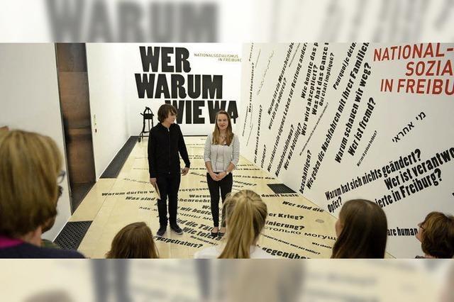 Jugendliche erzählen im Augustinermuseum von der NS-Zeit