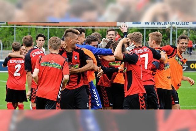SC Freiburg II gewinnt gegen Balingen und steigt in Regionalliga auf
