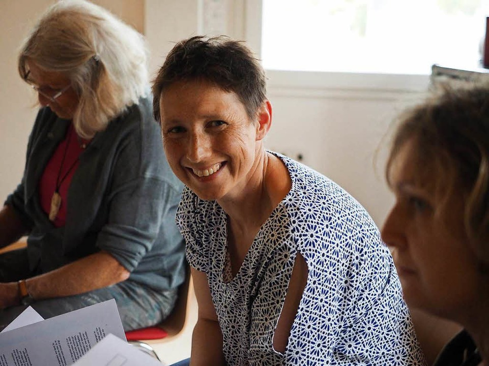 Gabriele Müller aus dem Vorstandsteam ist selbst von Krebs betroffen.  | Foto: Susanne Gilg