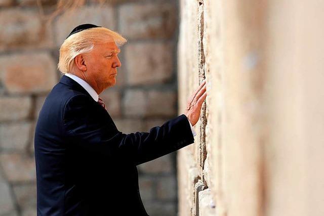 Israel-Besuch: Trump pilgert zur Klagemauer
