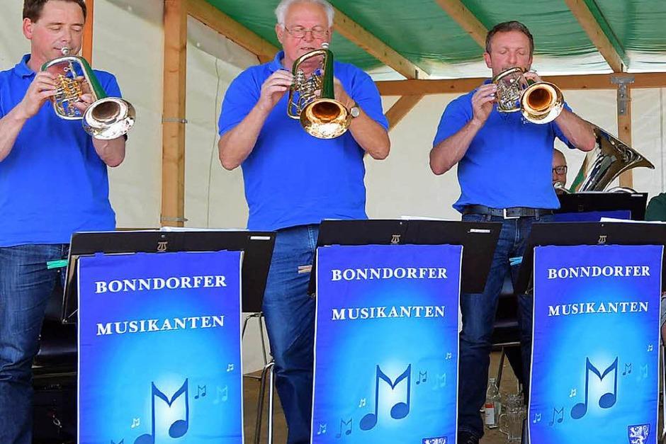 Die Bonndorfer Musikanten zogen alle Register. (Foto: Wolfgang Scheu)