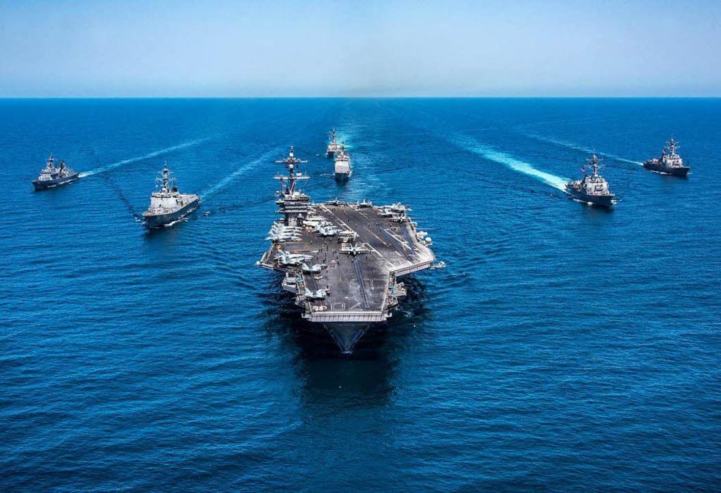Showdown unausweichlich? US-Flottenverband auf dem Weg nach Korea, Mai 2017  | Foto: Spc. 2nd Class Sean M. Castellan