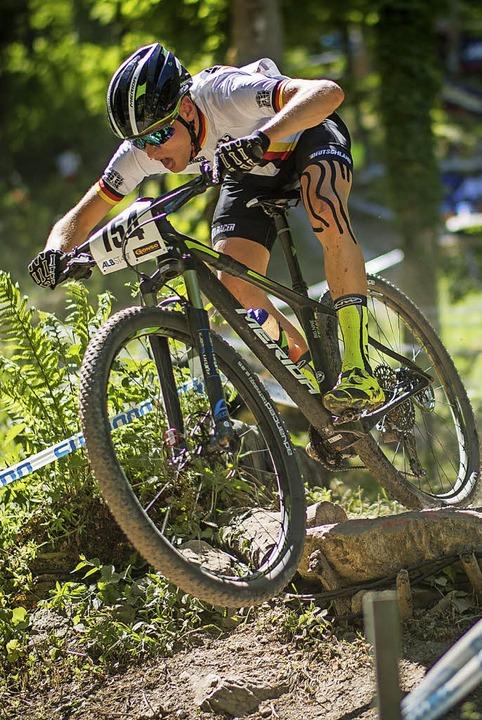 43 Konkurrenten hinter sich gelassen: ...ei seiner Weltcup-Premiere in Albstadt  | Foto: andreas dobslaff
