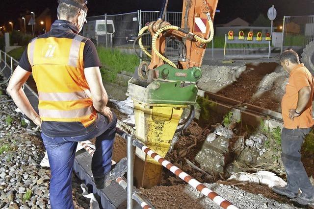 Unterführung für Fußgänger wird über Pfingsten installiert