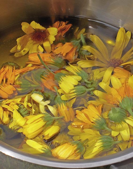 Ringelblumensalben kann man  selbst he...ind Olivenöl und Bienenwachs Zutaten.   | Foto: edith jost