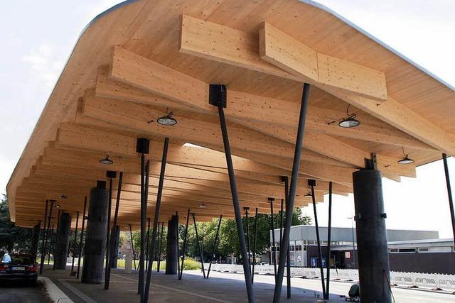 Der neue Busbahnhof bekommt digitale Infotafeln