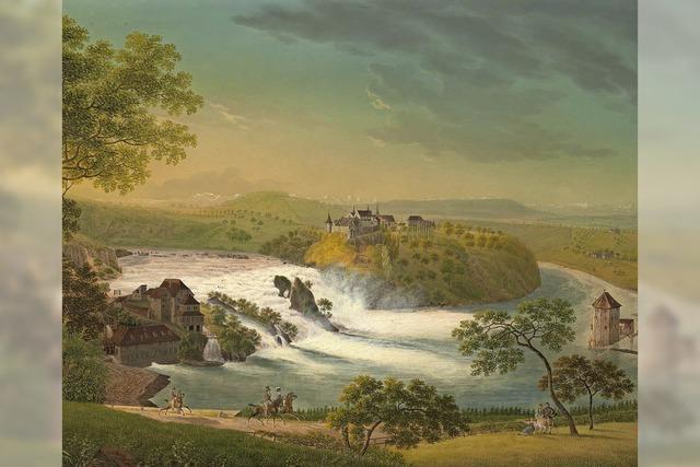 Schloss Bonndorf präsentiert Gemälde vom Rheinfall zwischen 1750 und 1850