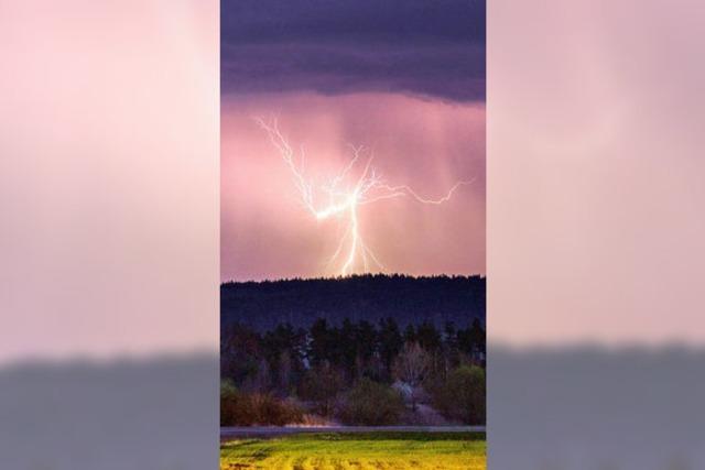 Blitz und Donner über Südbaden