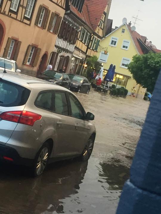 Hochwasser in Endingen  | Foto: Victoria Hause