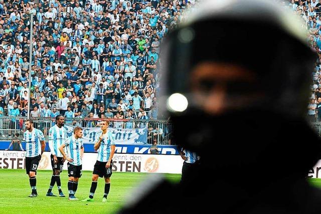Ausschreitungen beim Relegationsspiel 1860 München- SSV Jahn