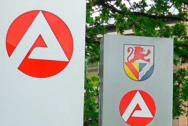 Höchststände bei offenen Stellen im Bezirk Lörrach