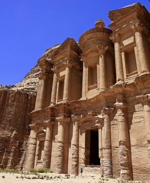Das zum Weltkulturerbe zählende Felsenkloster in Petra.  | Foto: Privat