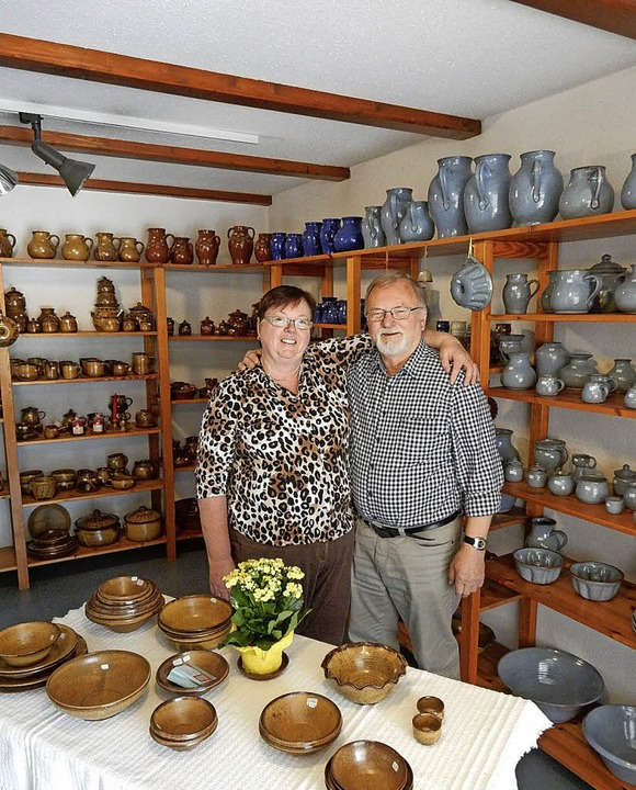 Das Ehepaar Mechthild Hartmann-Lehnert...Schätze freut sich auf den Ruhestand.     Foto: Kurt Meier