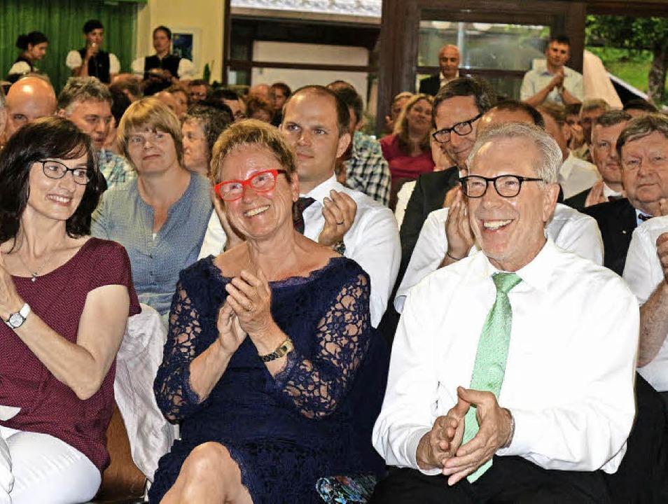 Reinhold Scheer und seine Gattin freut...ie WM in lateinamerikanischen Tänzen.     Foto: Fotos: Karin Heiss
