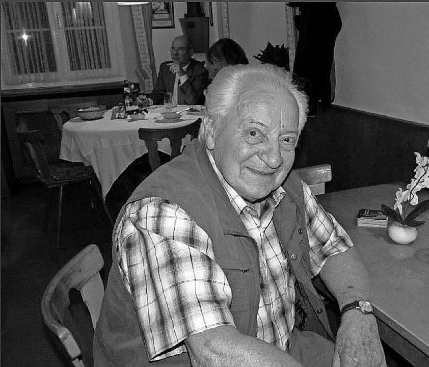 Jakob Kropf, Adlerwirt aus Ried, ist im Alter von 90 Jahren verstorben.    Foto: Sonja Eiche
