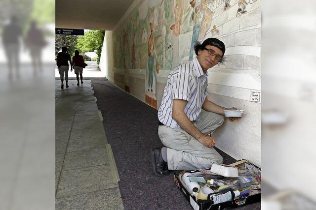 Eduardo Bastone stellte das Wandgemäldeprojekt des Kunstvereins Art fertig