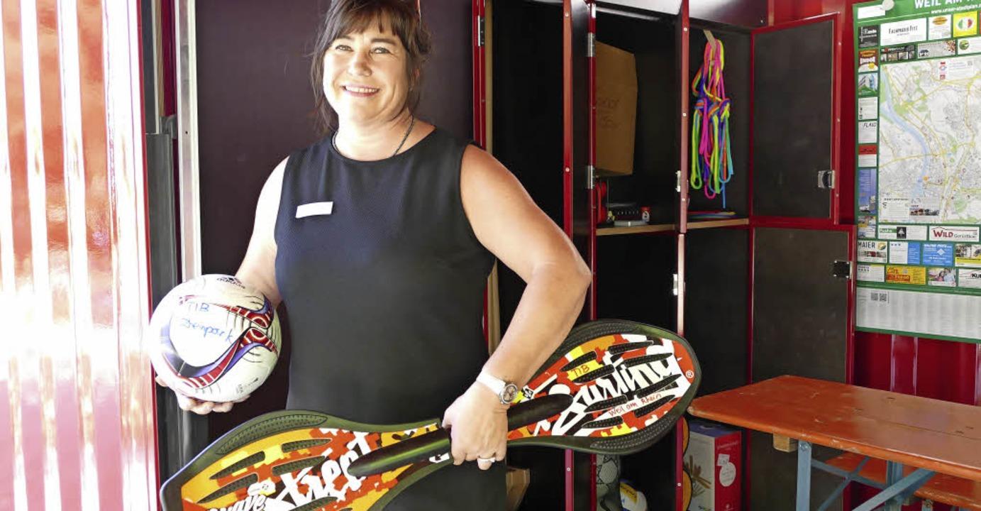 Michaela Rimkus freut sich auf Besucher am neuen Treffpunkt.   | Foto: SENF