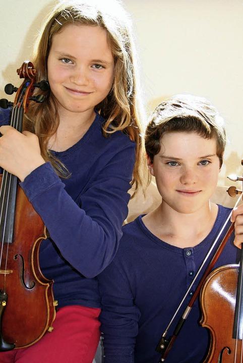 Nathalie und Nicolas Schanz aus Oberried sind ein Duo.     Foto: Anja Kunz