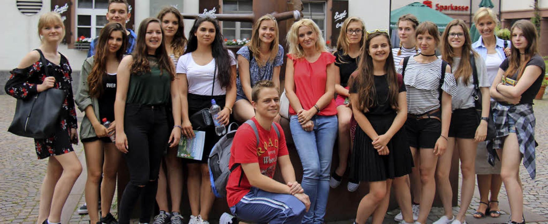 Polnische Austauschschüler besuchen derzeit Gundelfingen – und die Region.  | Foto: Enya Steinbrecher
