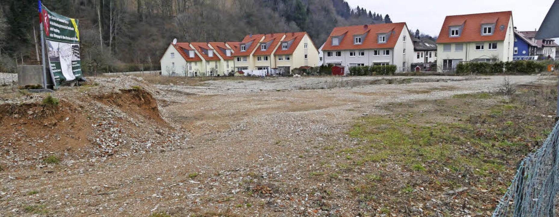 Hier soll gebaut werden: Das Grundstüc...nenareal am Ortseingang von Oberried.     Foto: Markus Donner