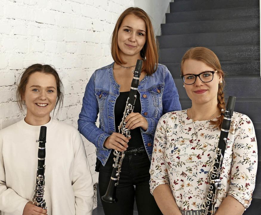 Klara Barth, Anja Gutmann und Sandra Schneider (von links)    Foto: Matthias Sattler
