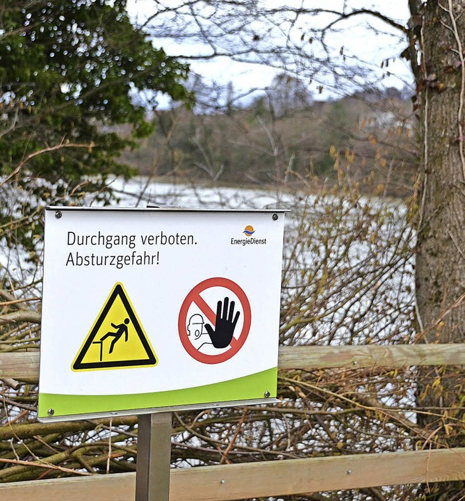Kniffliger  Punkt der Laufenburger  Ac...e   Wegführung östlich des Kraftwerks   | Foto: Winfried Dietsche