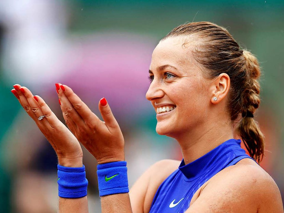 Geheilte Finger, gelungenes Comeback:  Petra Kvitova    Foto: dpa