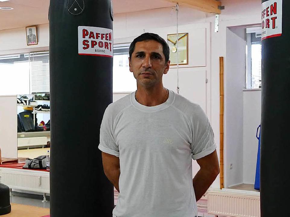 Erkan Egin, Boxtrainer und Vorstand des Boxclubs Müllheim  | Foto: Susanne Ehmann