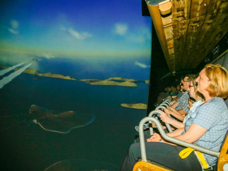 Simulierter Flug: Das Voletarium im Europa-Park hat eröffnet.  | Foto: Sandra Decoux-Kone