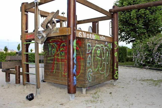 Der Spielplatz wird abgerissen
