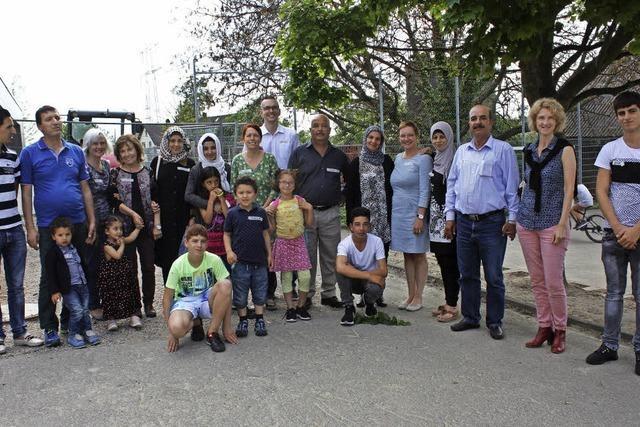 Zwei syrische und eine irakische Familie finden Heimat